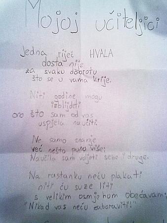 recitacije za rođendan CroExpress   Učiteljica se rasplakala kad je pročitala pjesmicu  recitacije za rođendan