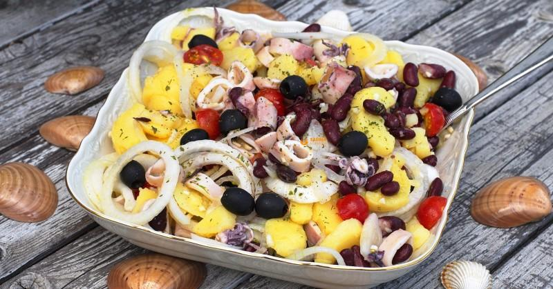 (VIDEO) IZ SAŠINE KUHINJE Lignje na salatu – recept! Okus je fenomenalan!