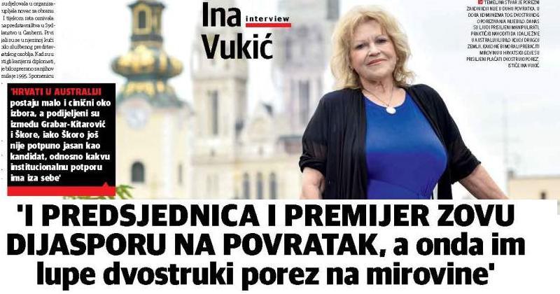 HRVATSKI NACIONAL OBJAVIO VELIKI INTERVJU S INOM VUKIĆ, HRVATICOM IZ AUSTRALIJE Vrijedi pročitati!