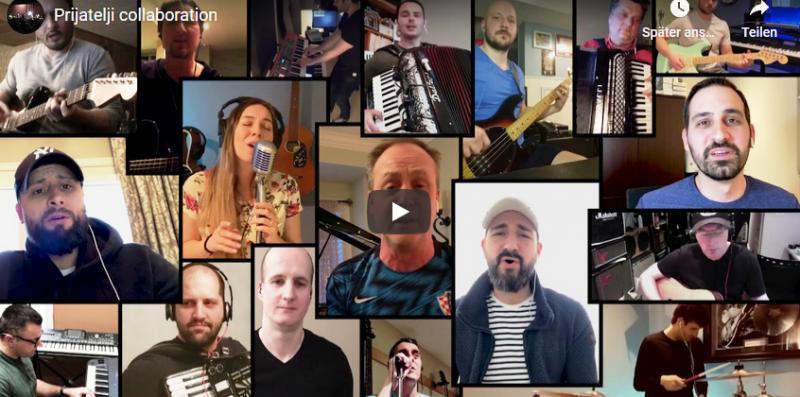 NEŠTO PREDIVNO IZ KANADE Hrvatski glazbenici iz Hamiltona, Kitchenera i Toronta ujedinjeno zapjevali veliki Thompsonov hit 'Prijatelji'
