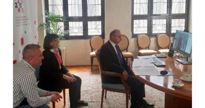 GRLIĆ-RADMAN, MILAS I BUŠIĆ Održali video-sastanak s predsjedavajućim Doma naroda Parlamentarne skupštine Bosne i Hercegovine Draganom Čovićem