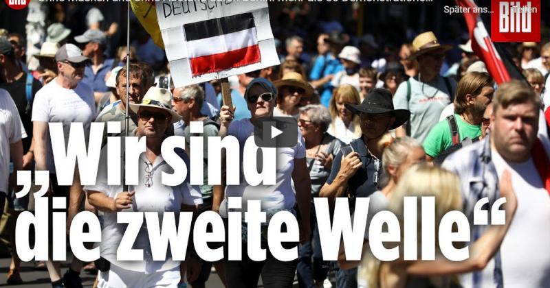 'NAJVEĆA TEORIJA ZAVJERE JE KORONA-PANDEMIJA' Tisuće prosvjednika bez distance i maski protiv korona-mjera u Berlinu