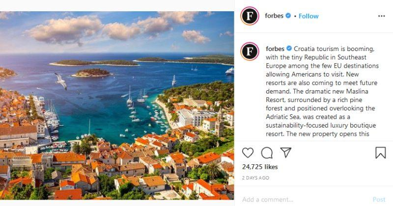 POZNATI MAGAZIN FORBES O HRVATSKOJ Turizam cvjeta, Amerikanci su dobrodošli