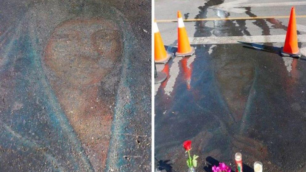 (VIDEO, FOTO) Crtež Djevice Marije nacrtan kredom prije 13 godina na parkiralištu, ponovno se pojavio!