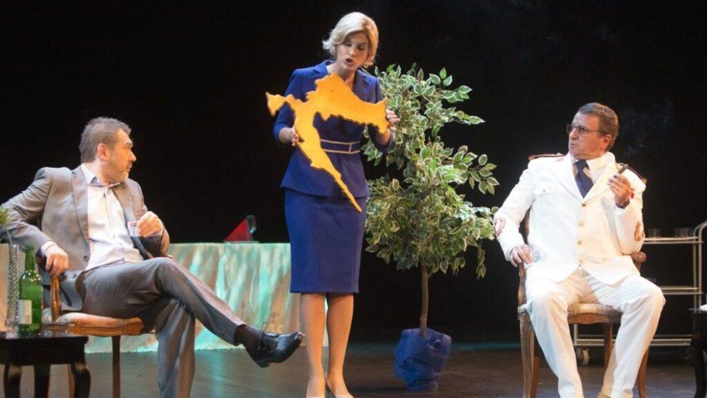 Mostarka glumi Kolindu Grabar-Kitarović, bivša predsjednica se čudi: Zar stvarno toliko gestikuliram?!