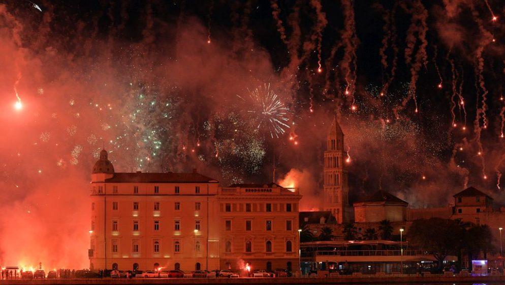 VIDEO Split gorio, spektakularan vatromet 'Torcidi' za rođendan