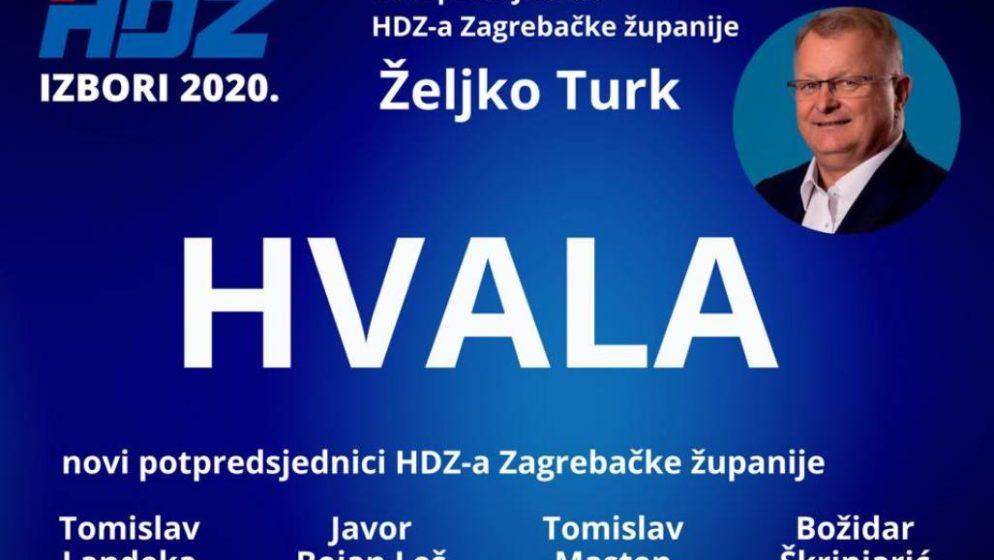Željko Turk novi predsjednik HDZ-a Zagrebačke županije
