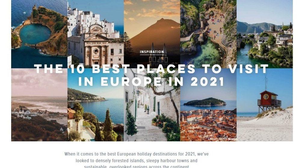 Dubrovnik i dubrovačko područje u top 10 najpoželjnijih europskih destinacija u 2021.