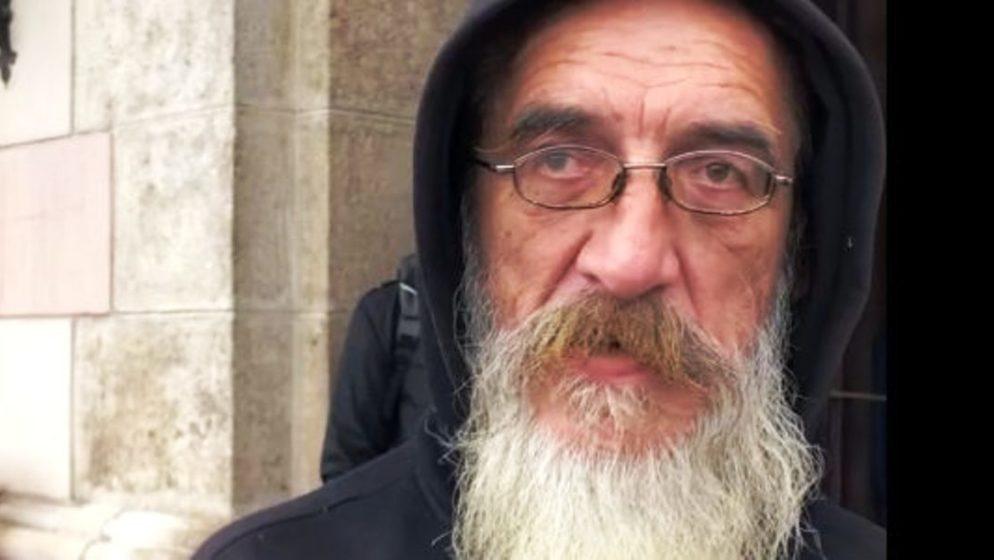 Nakon bankrota, svi su me napustili; stotinu puta me zbog smrada izbacili iz tramvaja, bježali su od mene; danas pomažem beskućnicima
