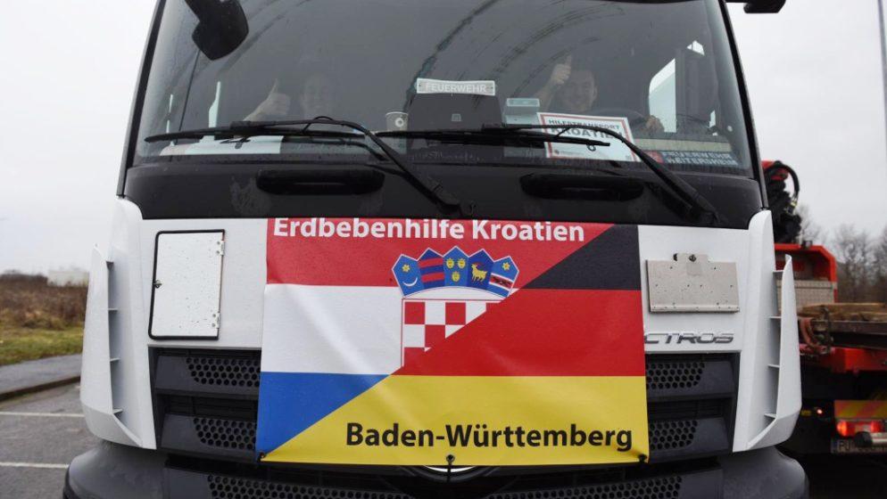 Treći konvoj pomoći iz Baden-Württemberga stigao u Sisačko-moslavačku županiju