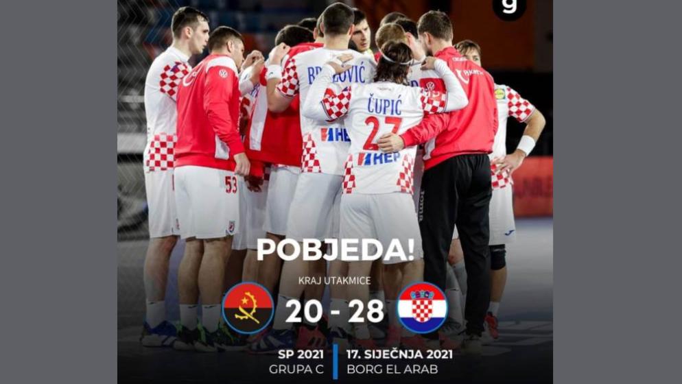 NAKON LOŠEG PRVOG POLUVREMENA Hrvatska pobijedila Angolu 28-20