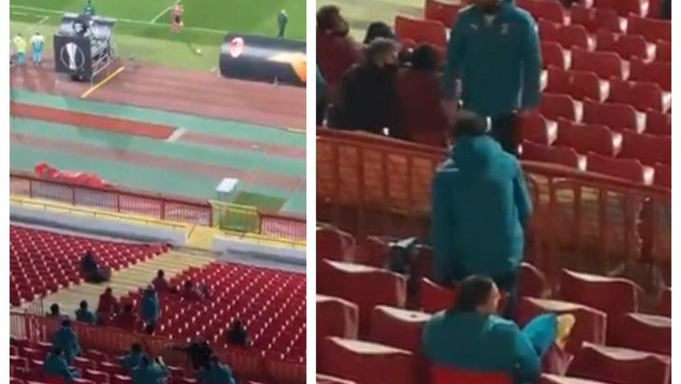 (VIDEO) Navijači Crvene zvezde (koji nisu ni smjeli biti na stadionu) vrijeđali Ibrahimovića i Antu Rebića