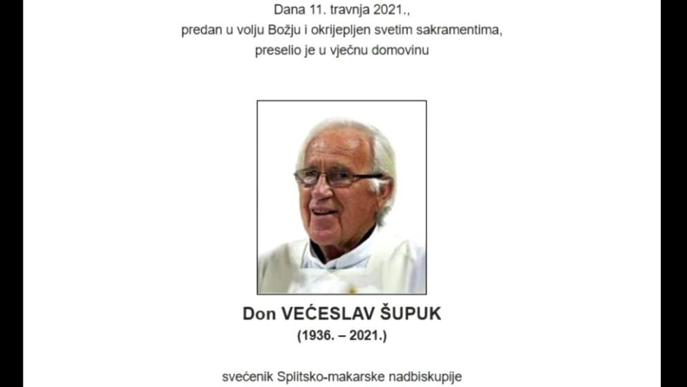 Preminuo don Većeslav Šupuk, nekadašnji dušobrižnik za Hrvate u Australiji