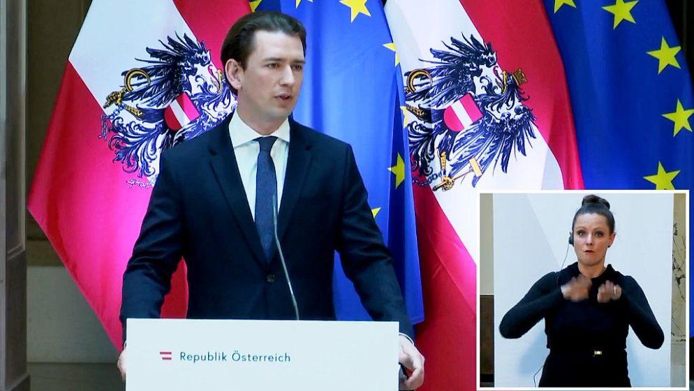 Austrijski kancelar Sebastian Kurz najavio: 'Otključavanje' kreće za nekoliko tjedana