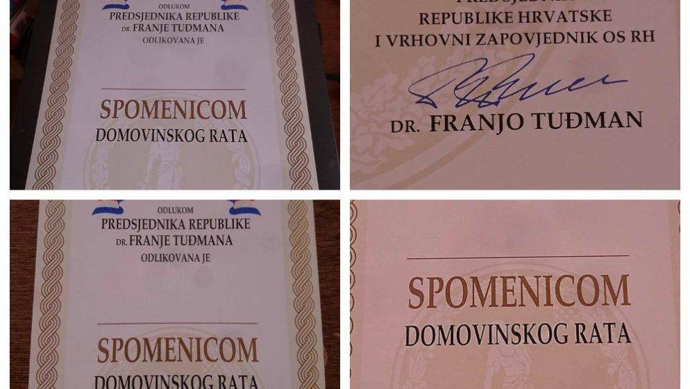 (FOTO) Na eBayu prodaju prazne Spomenice Domovinskog rata s Tuđmanovim potpisom