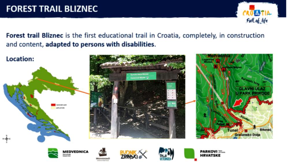 UNWTO u svoj priručnik uvrstio hrvatsku 'Šumsku stazu Bliznec'