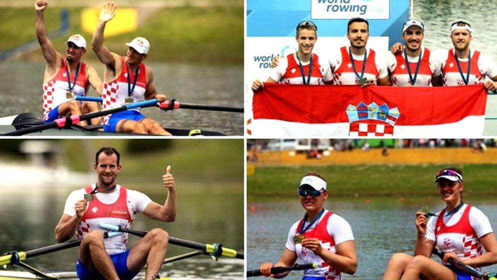 Četiri medalje za Hrvatsku na Svjetskom veslačkom kupu! Bravo