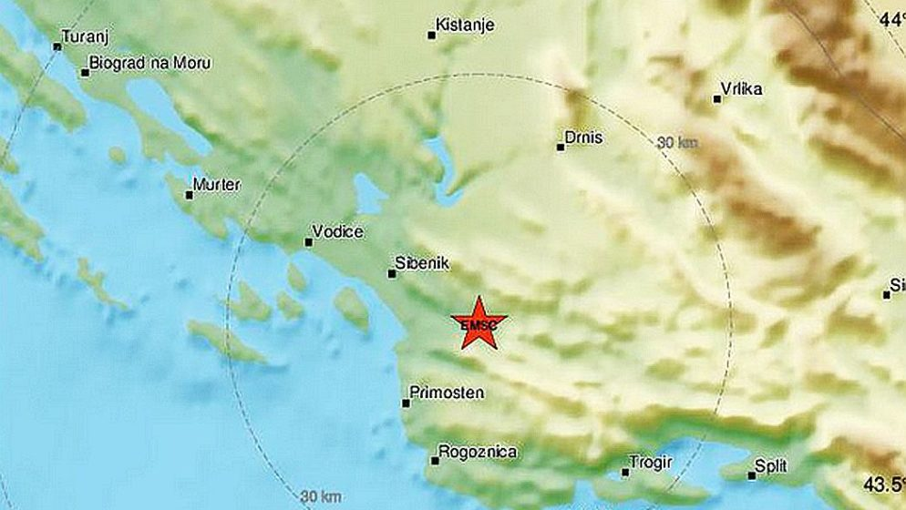 Jak potres magnitude 4,7 po Richteru pogodio Dalmaciju