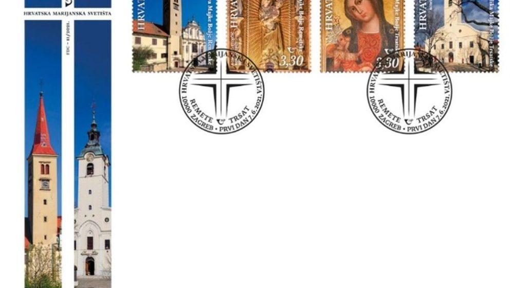 (FOTO) Hrvatska marijanska svetišta na novim poštanskim markama