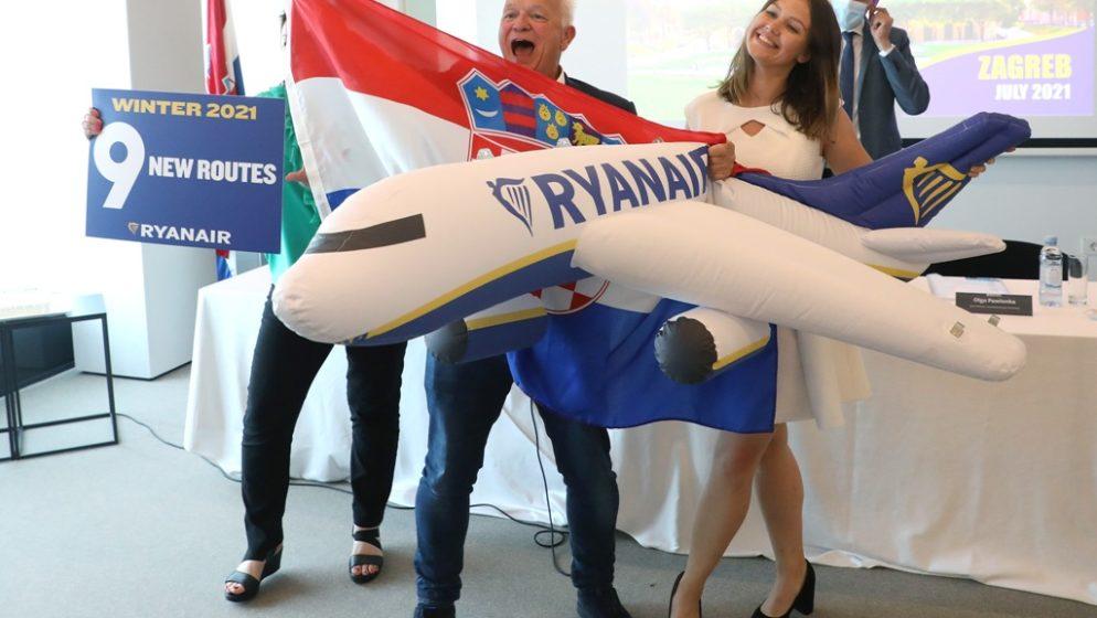 Ryanair otvorio bazu u Zagrebu, do travnja 2022. očekuje oko 700 tisuća putnika