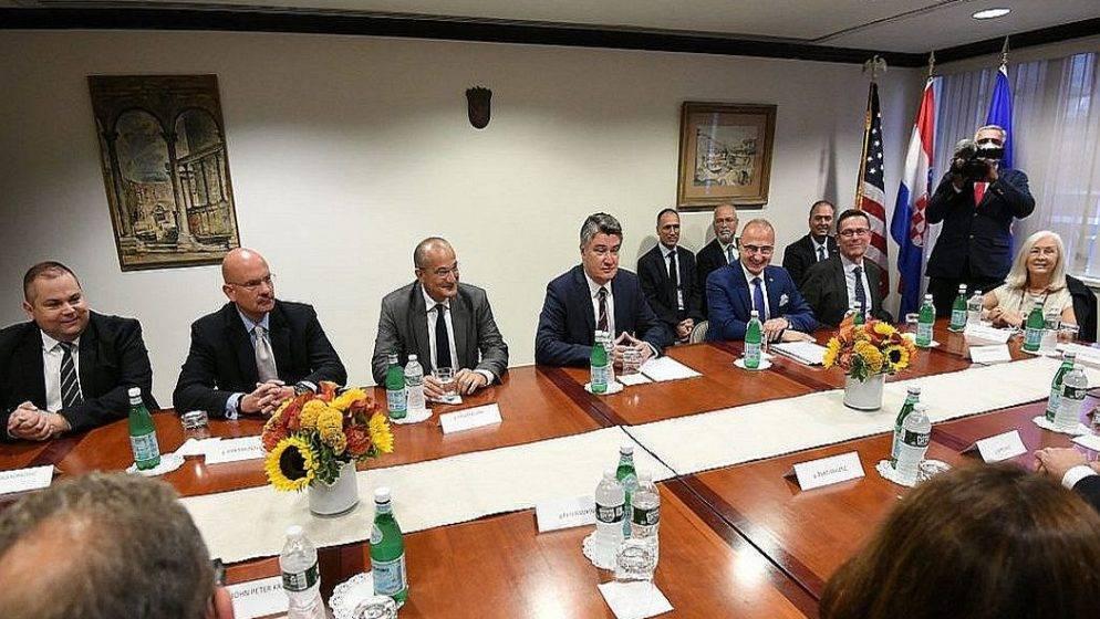 Milanović se susreo s predstavnicima Hrvata u New Yorku