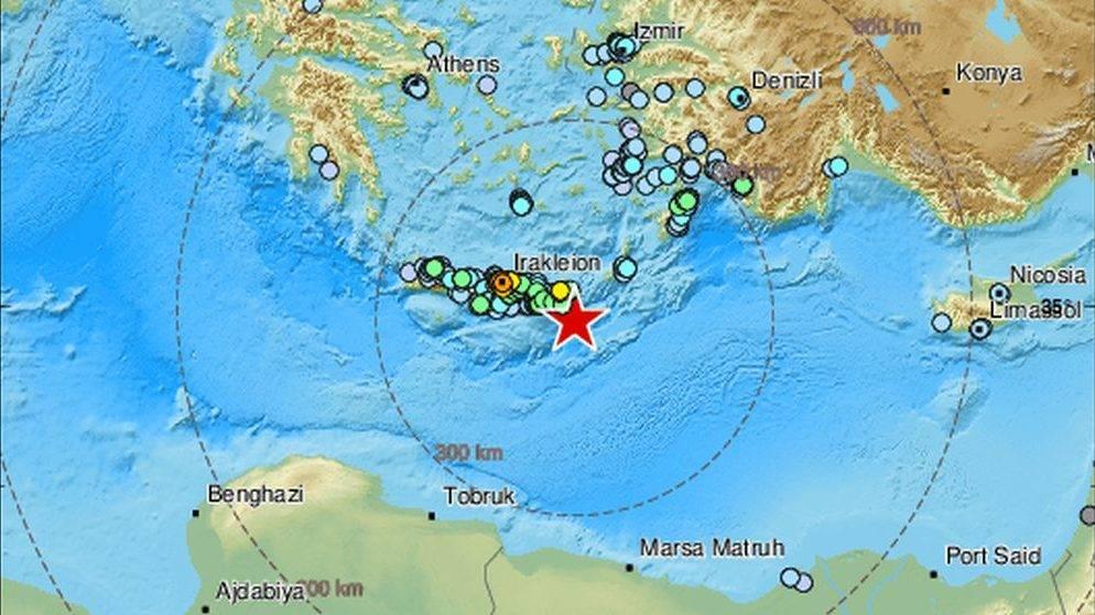 Snažan potres pogodio otok Kretu